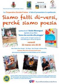 """San Giorgio in Bosco (Padova) - spettacolo """"Siamo fatti di-versi, perché siamo poesia"""""""